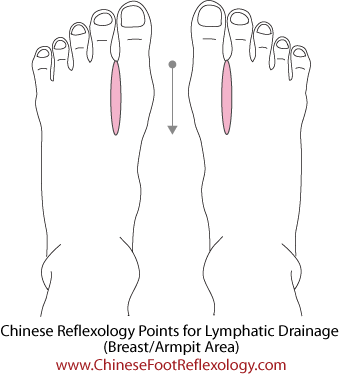 Chinese reflexology lymphatic system, breast reflexology