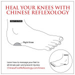 reflexology for knees, knee pain, knee problems, reflexology