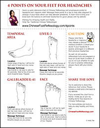 Headache reflexology points