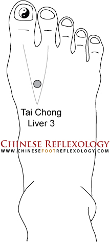 how to locate taichong liver 3