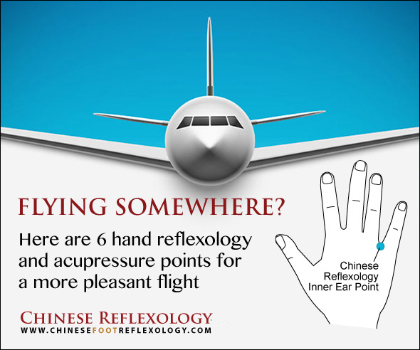 acupressure and reflexology points for flying, ear pain, motion sickness, stress, anxiety, cold prevention