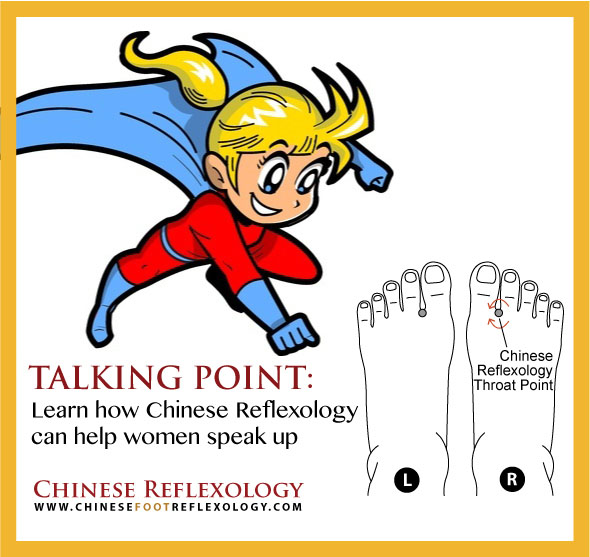 Chinese Reflexology throat point, clear throat chakra, blocked throat energy point