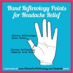 hand reflexology points for headache, points to massage for headache pain relief