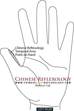reflexology point for headache pain relief
